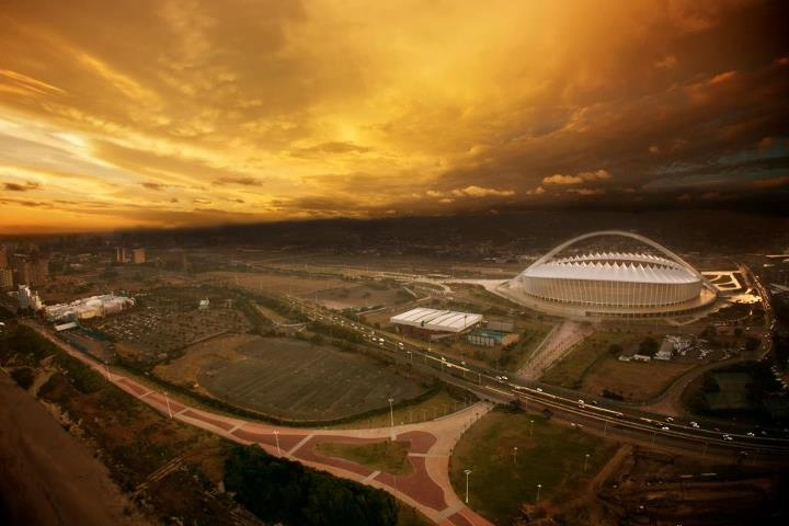 Amazing view of Durban with The Moses Mabhida Stadium (Photo by: Kierran Allen)