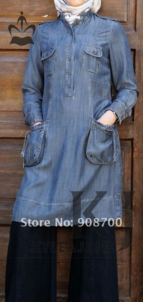 Jeans tunic w/pockets
