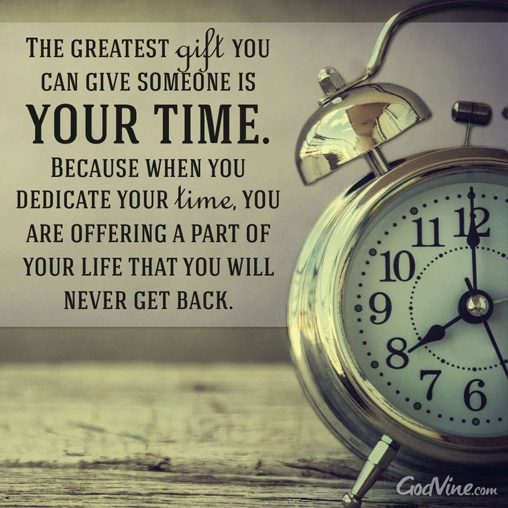Time, The Greatest Gift
