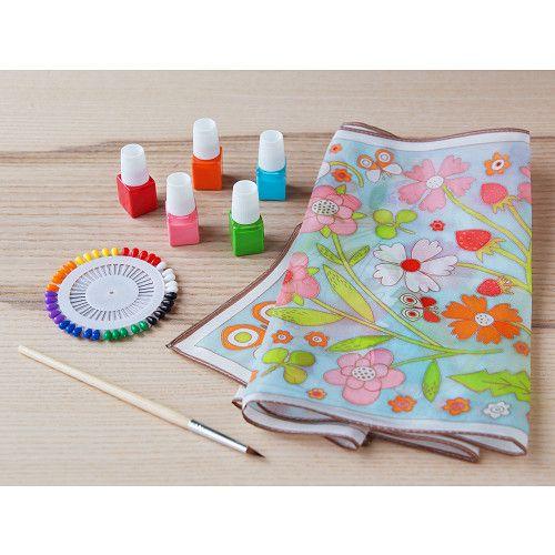Djeco Diy Silk Scarf Painting Kit Christmas Crafts And
