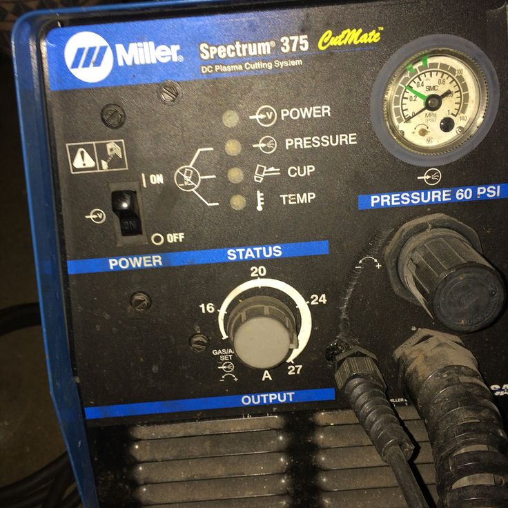 """FOR SALE! Great working Miller Spectrum 375 was used as hobby home shop unit not a lot of heavy use . Cuts up to 3/8"""" plate multi voltage so 115v or 230v . 400$ shipped in Lower 48 . Please DM me . #welding #weldporn #welder #fab #fabricationlife #fabricator #plasmacutter"""