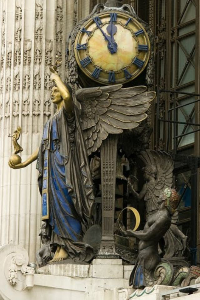 ✿ ❤ Antique Clock in London, England…….TIMELY GUARDIAN OF CLOCKS -- MAKING SURE THIS LONDON CLOCK NEVER LOOSES A SECOND……….ccp