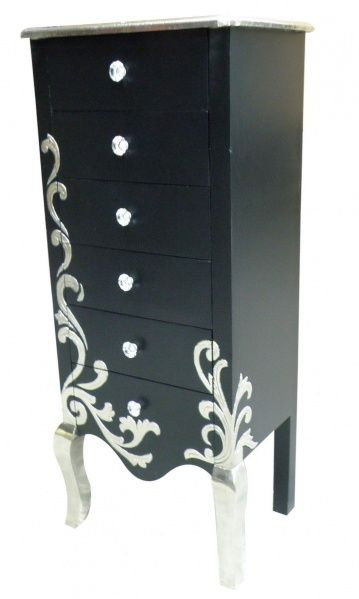 argento high boy dresser (only $5500.00 lol) buuut it's a lot like my jewelry armoire redo, tho mine doesn't have the scrolling and the top is black. hmm...