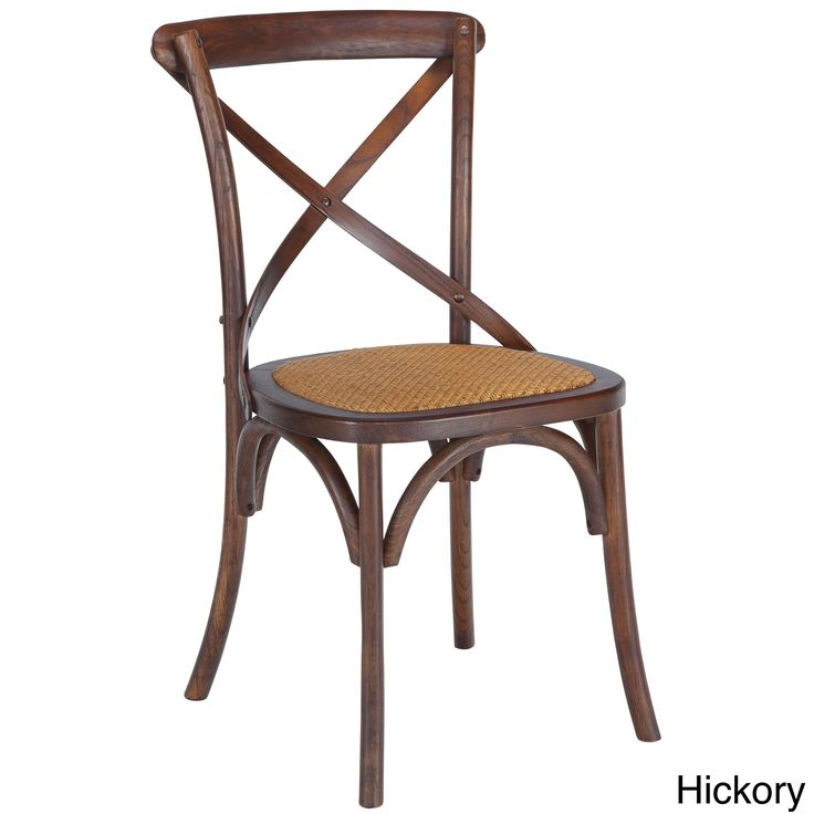 Poly and Bark Cafton Wood and Rattan Crossback Chair (Set of 2) (