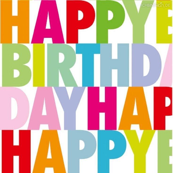ARTEbene Servietten Happy Birthday Buchstaben bunt - ichbinklein.de
