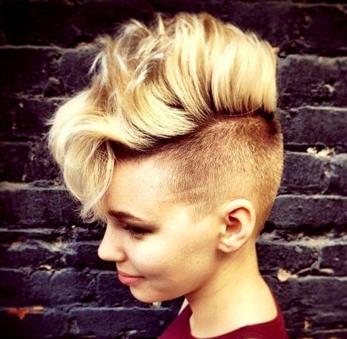 long top blonde mohawk for girls