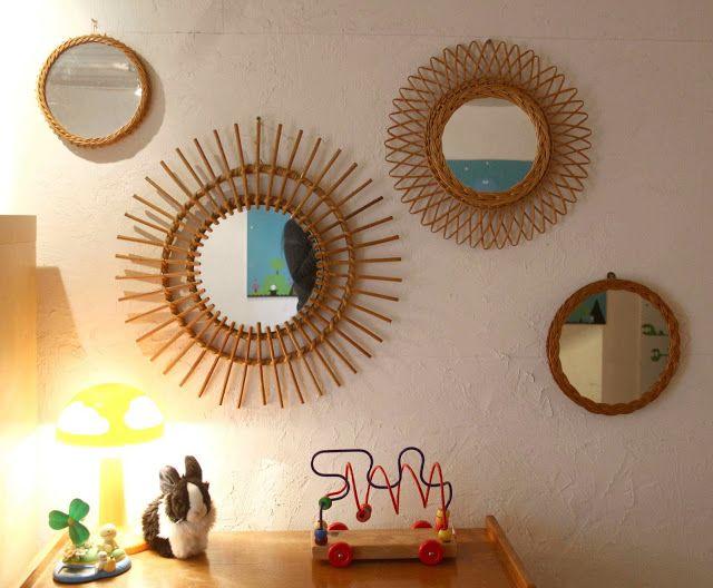 17 meilleures id es propos de miroir soleil sur for Miroir rotin oeil