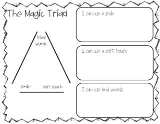 Great Expectations Magic Triad *A classroom building activity to teach the expectations of how to treat one another--it can be personalized, too