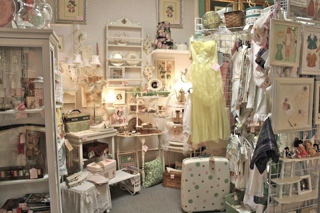 Polka Dot Closet Antique Booth.