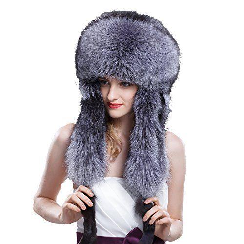 948cb2e3052d8 URSFUR Women s Full Fur Russian Ushanka Trapper Hats Brand  URSFUR Fur is  long