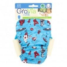 GroVia One Size AIO nappy (Robot Print)