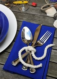 beach wedding showers | sea ... Nautical table decor ... Summer beach or lake party
