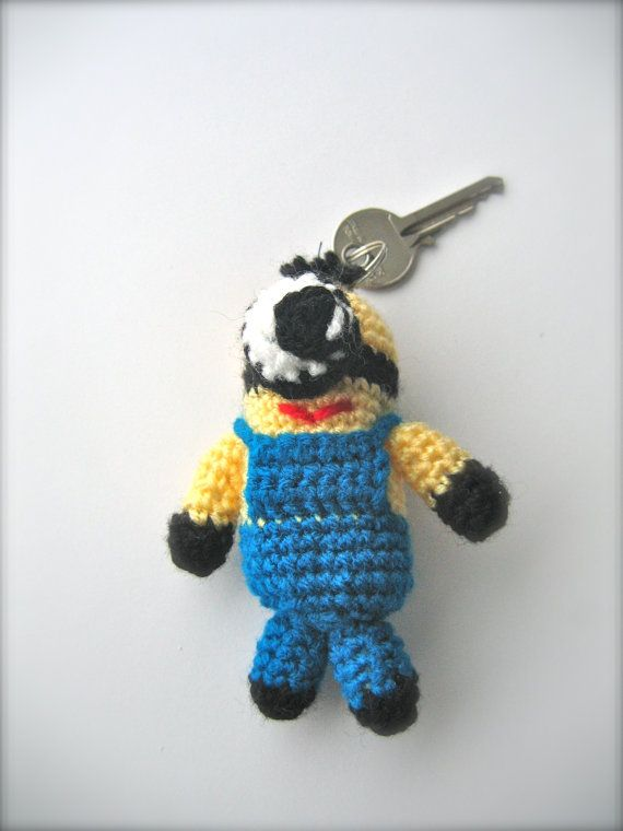 Minion Despicable Me minion key chain toy by Monikagifts on Etsy