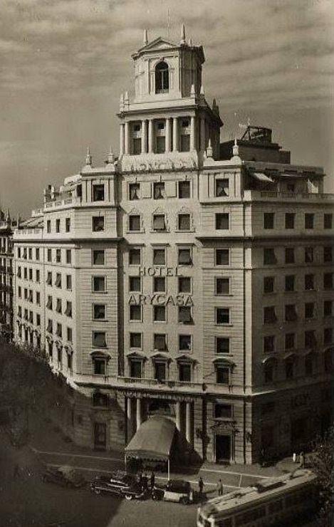Barcelona 1952 Hotel Arycasa. Foto Zerkowitz