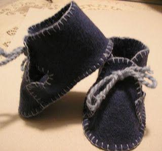 felt baby shoes - pattern