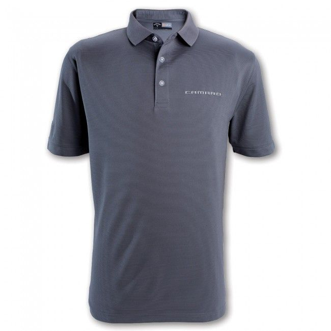 Callaway Textured Polo - Smoked Pearl  Stay dry with this 100% polyester textured polo. Opti-Dri technology transfers moisture away from the body to keep you cool and dry. Imported.  SKU: SK2-MP102