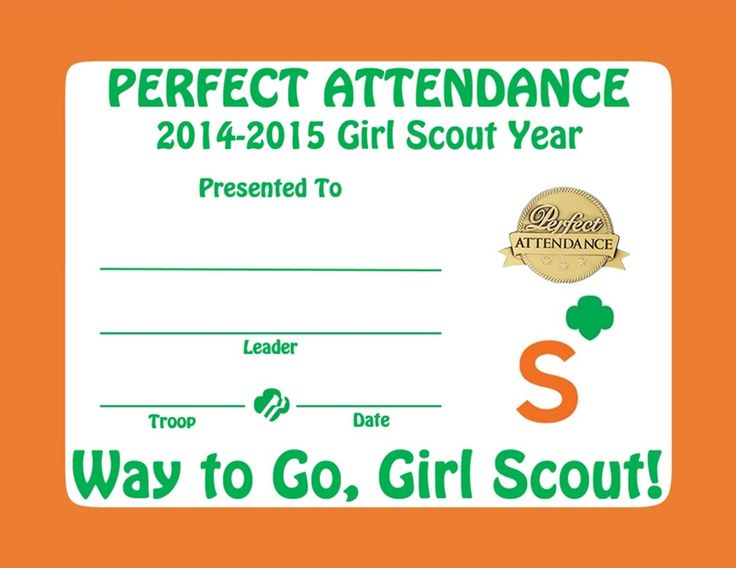 75 best Senior Girl Scouts images on Pinterest Brownie girl - attendance certificates printable