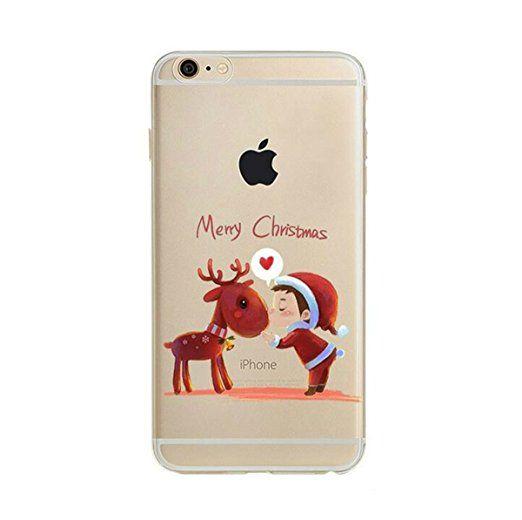 "Pacyer® iPhone 6/6s Custodia Natale TPU case Gel Protettivo Skin Shell Case Cover Per Apple iPhone 6 6s (4,7"") (5)"