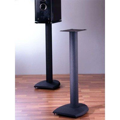 "DF Series Fixed Height Speaker Stand (Set of 2) Height: 29"" by VTI. $125.95. DF29B Height: 29"" Features: -Heavy duty and long lasting stand for support all kinds of speakers with excellent sound performance.-Adjustable spikes on bottom provide excellent stability.-Metal bits fillable to increase stability and reduce sound distortion.-If stand is not filled speaker wires can be run in the tube.-Price is per pair. Construction: -Beautifully textured powder coated c..."