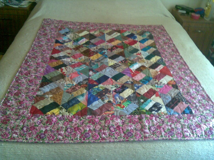 Made this scrap quilt from my own design. If you would like the pattern contact me!