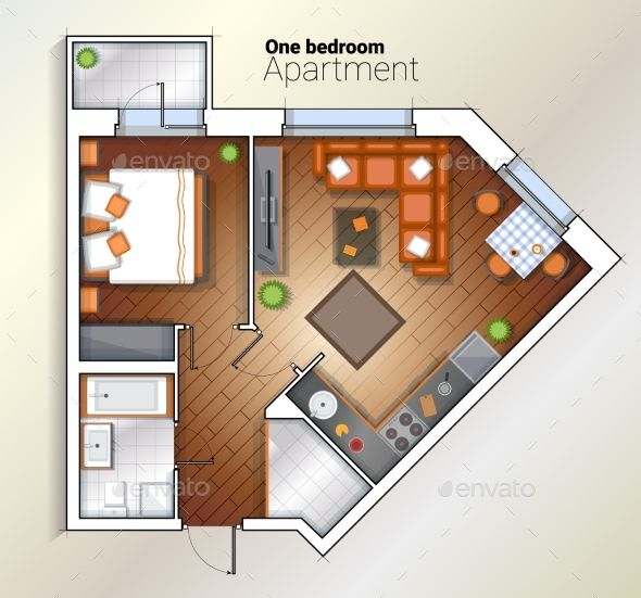 25+ Best Ideas About One Bedroom Apartments On Pinterest