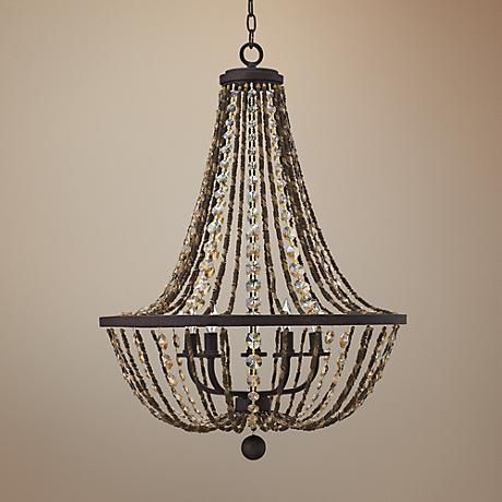 "Fredrick Ramond Hamlet 24"" Wide Bronze Chandelier"