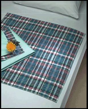Reusable Underpad Plaidbex Bed Pad by Beck