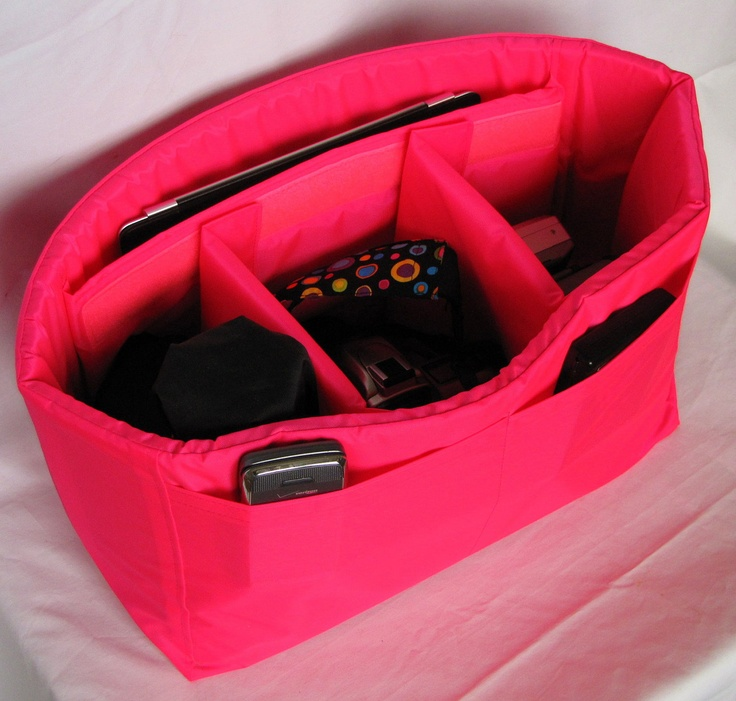 Dslr Camera Bag Insert In Hot Pink Adjule Dividers Holds Ipad