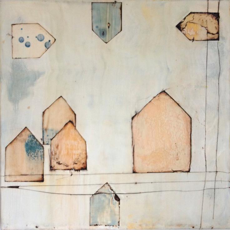 Communities by Jess Greene - 16in ORIGINAL Encaustic Painting. $400.00, via Etsy. #encaustic #home #wax