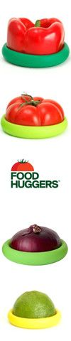 Keep your fresh fruits and veggies protected with silicone Food Huggers