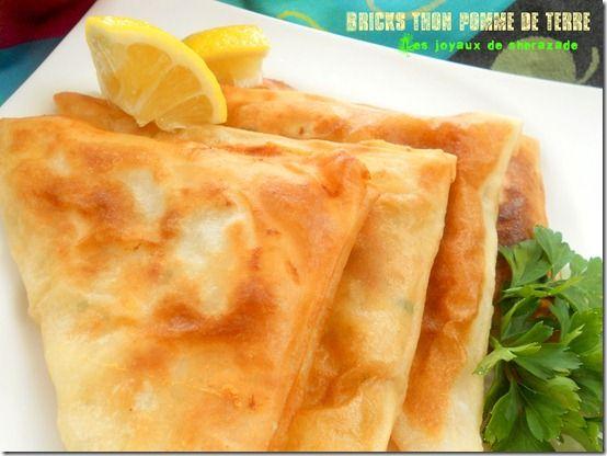 Bricks au thon et pommes de terre - Les joyaux de sherazade : Recettes de cuisine algerienne et de monde.