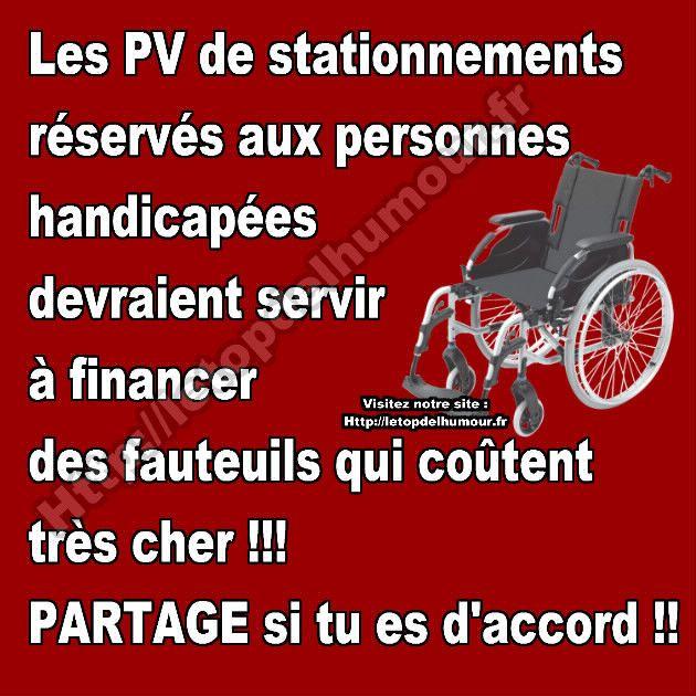 Les PV de stationnement réservés aux handicapés.