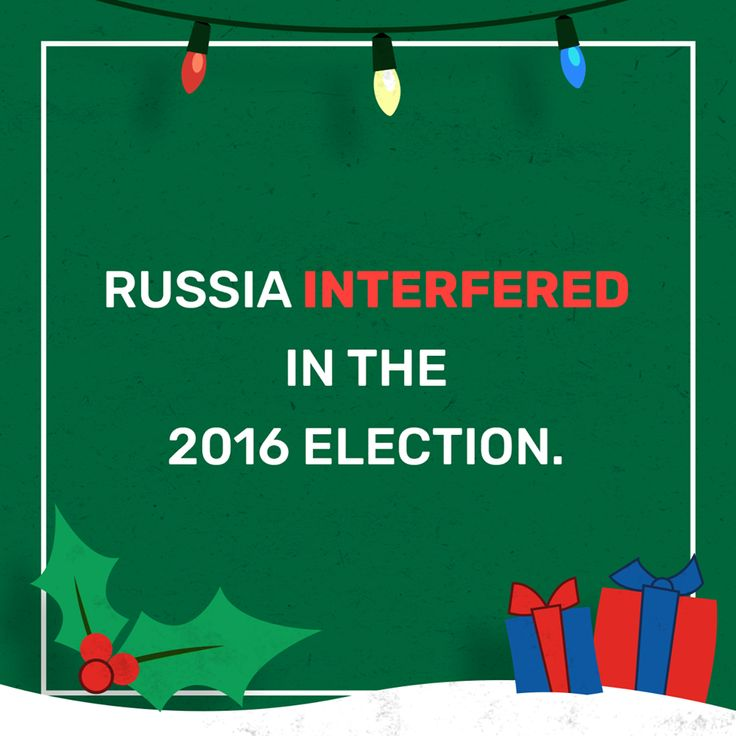 Russian election interference is not a partisan issue. It is a national security issue.