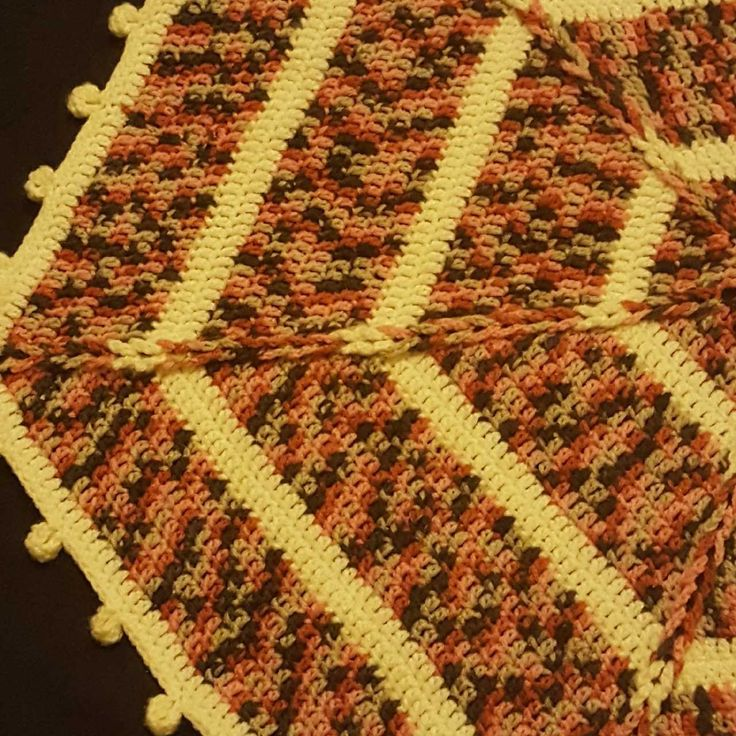 Baby blanket. Braide and Pompoms