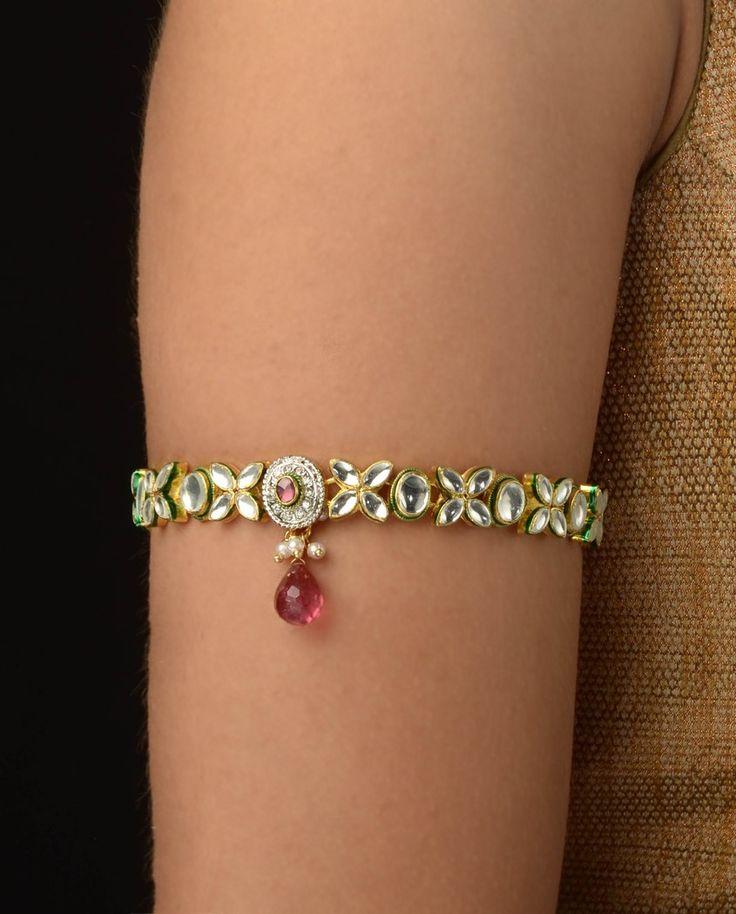 #Kundan armlets