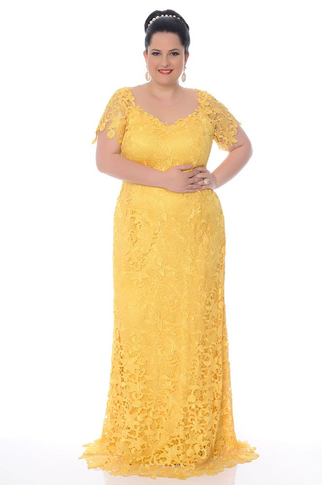 vestido de festa longo plus size