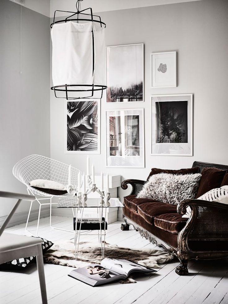 Un studio en gris et blanc