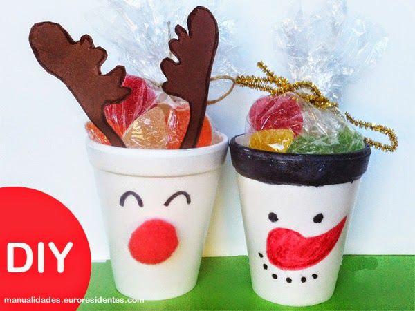 Manualidades navidad dulcero navide o detalle de navidad - Manualidades navidad para ninos ...