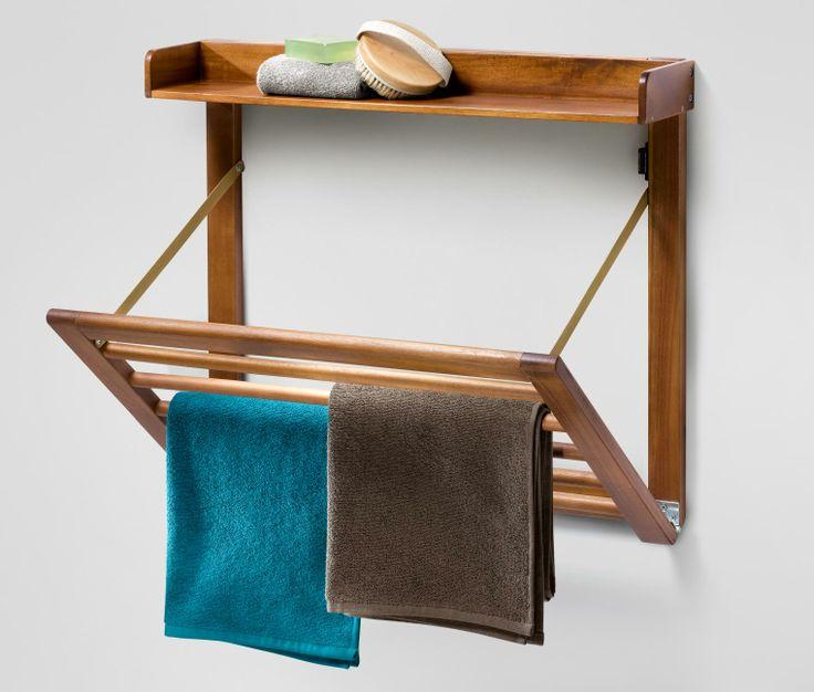 Wand Handtuchhalter Holz Klappbar