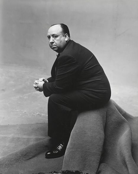 Alfred Hitchcock photographed by Irving Penn in New York, 1947.
