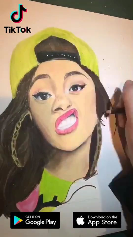 Drawing Ideas On Tiktok Download Now To Find More Amazing Videos Life S Moving Fast So Make Every Second Count Drawing Painting Tiktok Art Cartoon Drawings Creative Drawing Cool Gifs