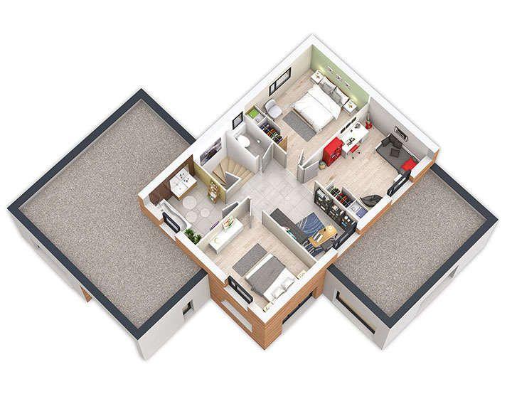 21 best maison mix bois enduit images on Pinterest Cement render - construire sa maison en bois prix