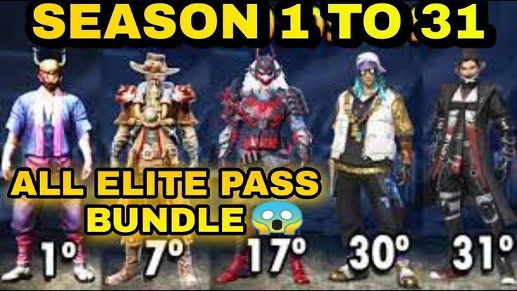 Free Fire Season 1 To 31 Elite Pass Bundle In 2021 Elite Season 1 Seasons
