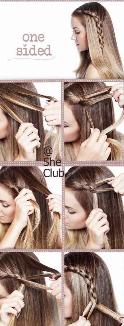 Treccia per la mia bimba How to make beautiful one sided braid hair style step by step