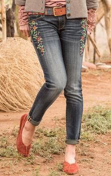 MARILYN FLOWERED JEANS BY DRIFTWOOD: