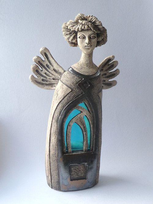 Anděl gotický - svítilna