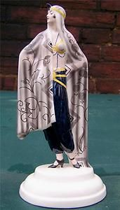 RARE ART DECO GOLDSCHEIDER EGYPTIAN DANCER LORENZL LADY