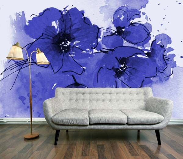 Eye-Catching Watercolor Walls WOW Craft Room Wall if I have a wall left over LOVE IT