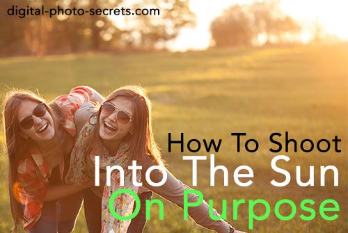 How to Shoot Into The Sun (On Purpose). I pinned this tutorial because shooting into the sun on purpose can add mood to a photo. It can make a picture seem happy and carefree, without overpowering the picture and making it too bright. I could use this tutorial to shoot pictures of little kids playing or 2 people talking.