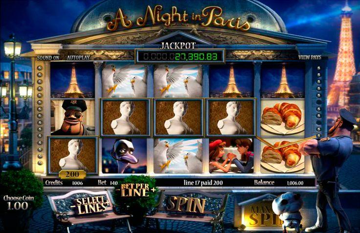 A Night in Paris van Betsoft neemt u mee op een korte rondleiding - een reis 's nachts door de stad van de liefde en de lichten. Dit spel heeft niets samen met de Hollywood-stijl film van Woody Allen. In feite is het geïnspireerd door de typisch Franse films. Het spel heeft uitstekende 3D-animaties en graphics in combinatie met gemakkelijke Franse muziek op de achtergrond. Het heeft 5-reel, 30-winlijnen, Bonus Spel, Wild Symbool, Scatter Symbool en Gratis Spins.